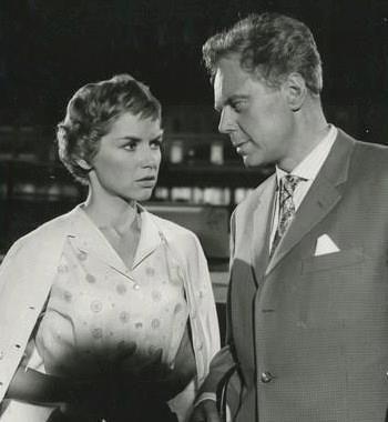 Muriel Pavlow as Dina and Marius Goring as Georg