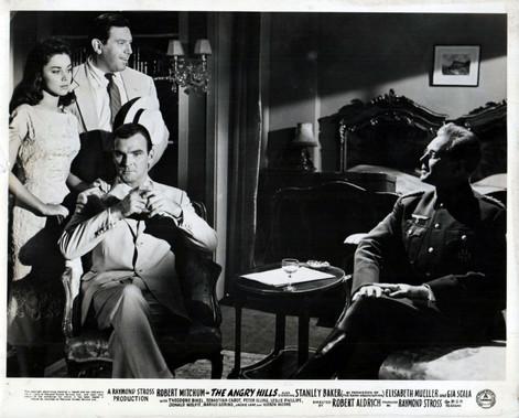 Elisabeth Müller as Lisa Kyriakides, Theodore Bikel as Dimitrios Tassos, Stanley Baker as Conrad Heisler and Marius Goring as Colonel Elrick Oberg