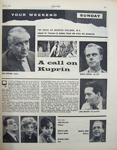 'A Call on Kuprin' article in the BBC Radio Times 15 June 1961