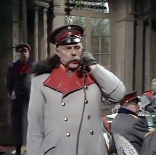 Marius Goring as von Hindenburg in Fall of Eagles Episode 13 'End Game'. Director: Rudolph Cartier Writers: Keith Dewhurst, John Elliot. Broadcast 7 June 1974
