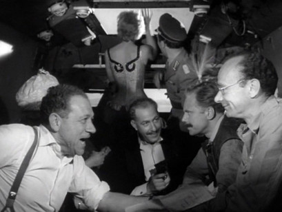 Sid James, Alfred Marks, Marius Goring and Philo Hauser