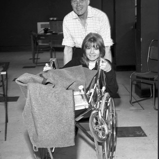 Marius Goring as Sam Bullivant and Jane Asher as Caroline Bullivant in 24 Hour Call Season 1 Episode 21 'Love for Caroline' written by Peter Sasdy. Broadcast 23 June 1963