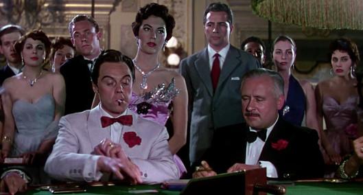 Marius Goring as Alberto Bravano, Ava Gardner as Maria Vargas and Rossano Brazzi as Count Vincenzo Torlato-Favrini