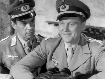 Alan Tilvern as the German Captain and Marius Goring as the German Major in Desert Mice 1959