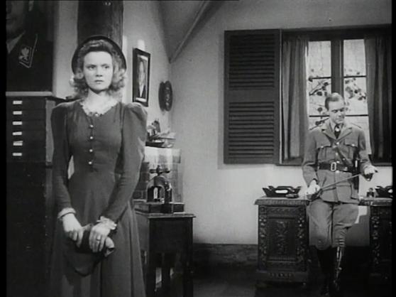Nova Pilbeam as Christine Hall and Marius Goring as Fritz Gerte in Pastor Hall