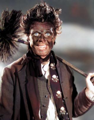 Marius Goring as Sir Percy Blakeney/The Scarlet Pimpernel in disguise as a chimneysweep