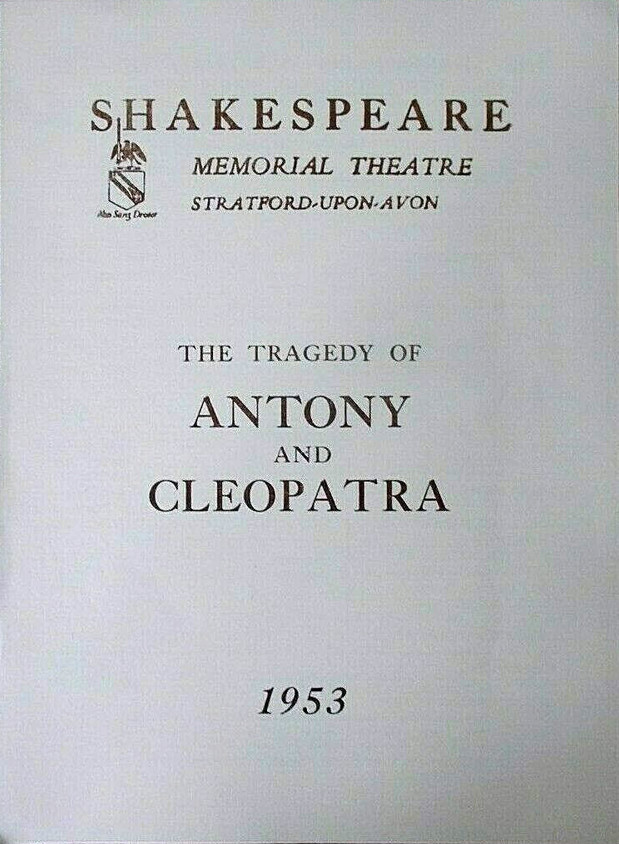 Shakespeare Memorial Theatre 1953 Programme for Antony and Cleopatra