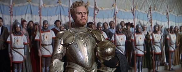 Marius Goring as Count Philip de Creville in The Adventures of Quentin Durward 1955