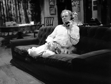 Marius Goring as Charles Norbury in the ITV Play of the Week Season 10 Episode 9 'The Sound of Murder.' A tape-recording plays a vital part in a cunning murder plot. Directed by John Jacobs and written by William Fairchild. Broadcast 2 November 1964