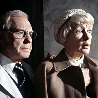 Marius Goring as Dr John Landy and Elaine Stritch as Mary Pearl
