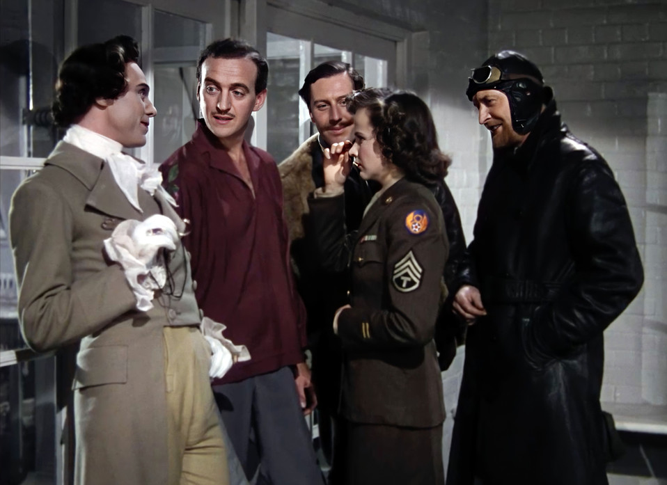 Marius Goring, David Niven, Robert Coote, Kim Hunter & Roger Livesey in A Matter of Life and Death 1946