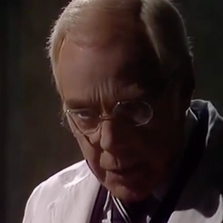 Marius Goring as Dr John Landy in Tales of the Unexpected Season 1 Episode 3 'William and Mary'. Director: Donald McWhinnie. Writers: Roald Dahl, Ronald Harwood. Broadcast 7 April 1979