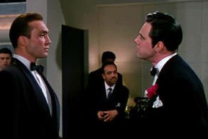 Warren Stevens as Kirk Edwards and Marius Goring as Alberto Bravano