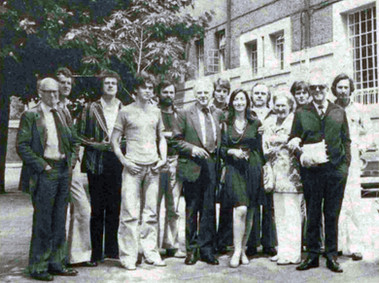 Marius Goring with The Wisest Fool cast 1974