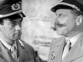 Alan Tilvern as the German Captain and Marius Goring as the German Major
