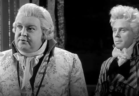 Alexander Gauge as the Prince of Wales and Marius Goring as Sir Percy Blakeney