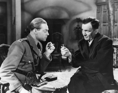 Marius Goring as Fritz Gerte and Wilfrid Lawson as Pastor Frederick Hall