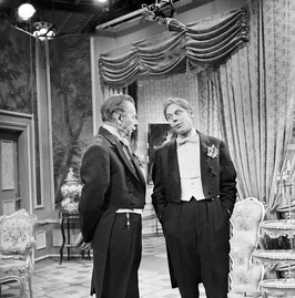 Paul Henckels as the Earl of Caversham and Marius Goring as Viscount Goring in a German TV production of 'An Ideal Husband'