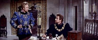 Marius Goring as Count Philip de Creville and Alec Clunes as the Duke of Burgundy