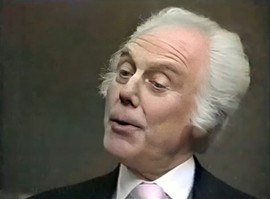 Marius Goring as Emile Englander in The Old Men at the Zoo Episode 1 'A Tall Story'. Director: Stuart Burge Writers: Troy Kennedy-Martin, Angus Wilson. Broadcast 15 September 1983
