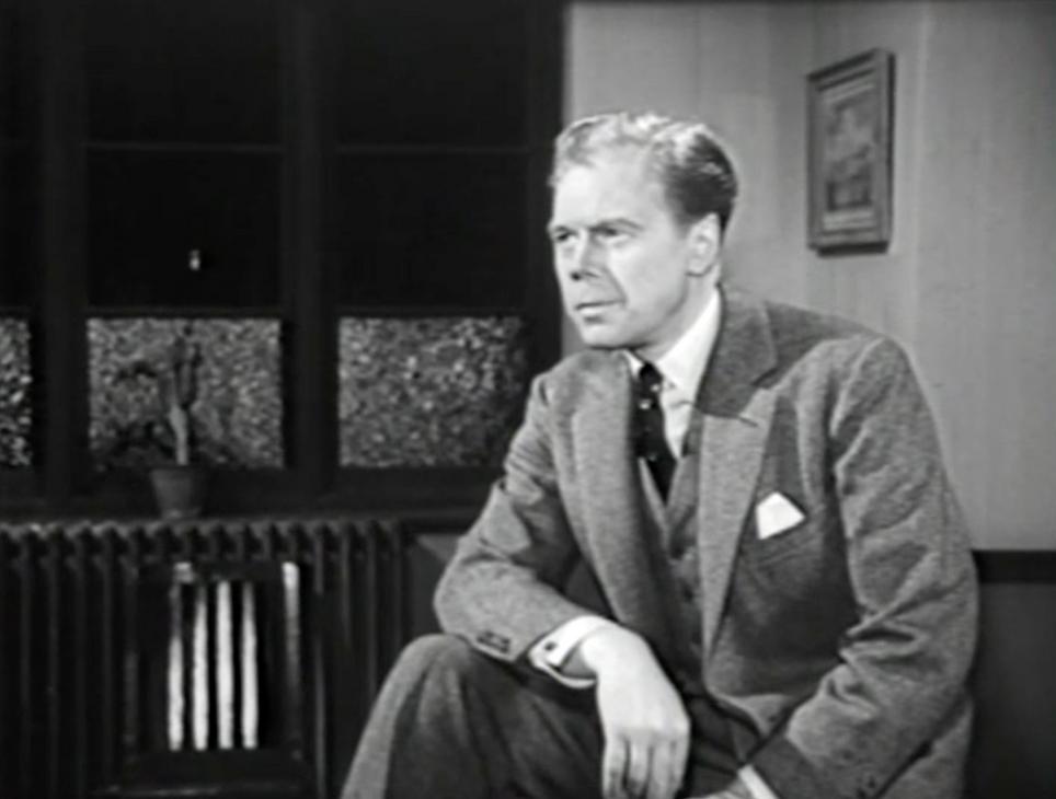 Marius Goring as Inspector Hazelrigg
