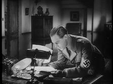 Marius Goring as Fritz Gerte in Pastor Hall