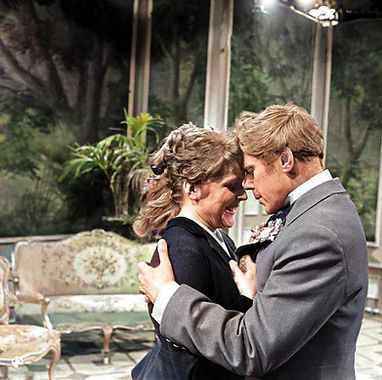 Marius Goring as Lord Goring & Maria Körber as Mabel Chiltern in An Ideal Husband 1958