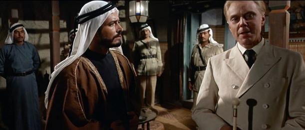 John Derek as Taha and Marius Goring as Von Storch in Exodus 1960