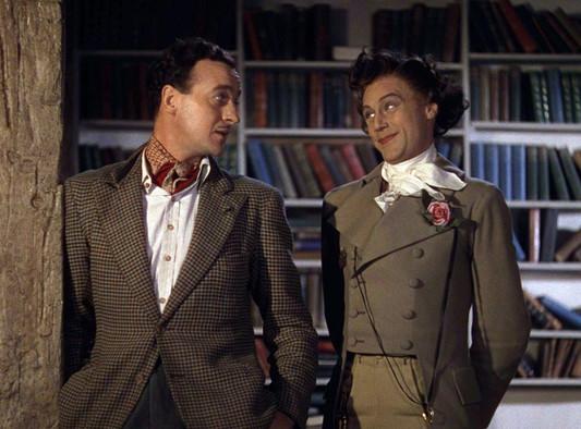 David Niven as Peter Carter and Marius Goring as Conductor 71