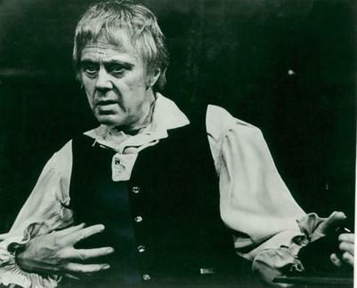 Marius Goring as Mathias in 'The Bells' at the Vaudeville Theatre, London 1968