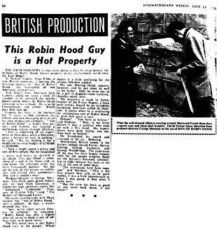 Son of Robin Hood Review Kinematograph Weekly 26 June 1958