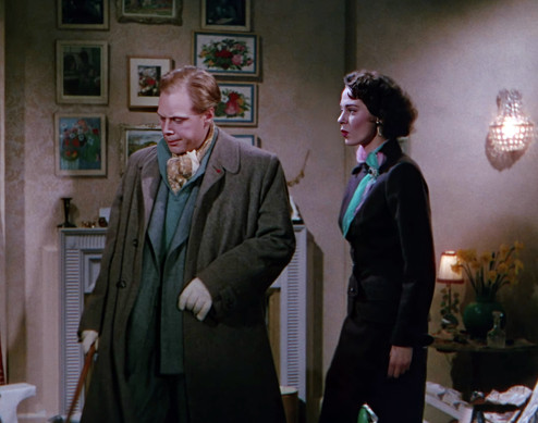 Marius Goring as Inspector Lucas and Märta Torén as Michele Rozier