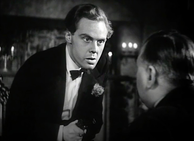 Marius Goring as Lord Lebanon and George Merritt as Detective Chief Inspector Tanner