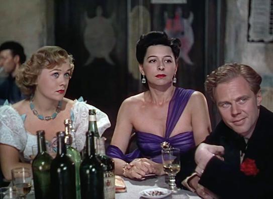 Patricia Raine as Peggy, Pamela Mason as Jenny and Marius Goring as Reggie Demarest