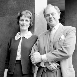 Jean Hardwicke as Kathleen and Marius Goring as Robert Langley in Love Story Season 2   Episode 17 'In Loving Memory.' Broadcast 28 July 1964