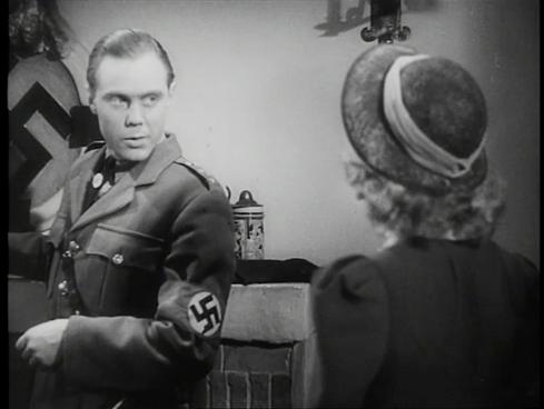 Marius Goring as Fritz Gerte and Nova Pilbeam as Christine Hall in Pastor Hall 1940