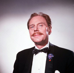 Marius Goring as Henri Thibaud in Man in a Suitcase Season 1 Episode 20 'Blind Spot'. Directed by Jeremy Summers and written by Victor Canning, Richard Harris and Dennis Spooner. Broadcast 7 February 1968
