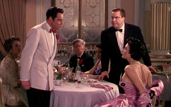 Marius Goring as Alberto Bravano, Edmond O'Brien as Oscar Muldoon and Ava Gardner as Maria Vargas