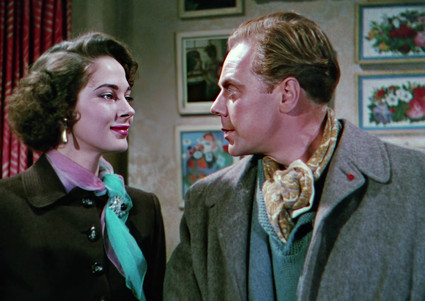 Märta Torén as Michele Rozier and Marius Goring as Inspector Lucas