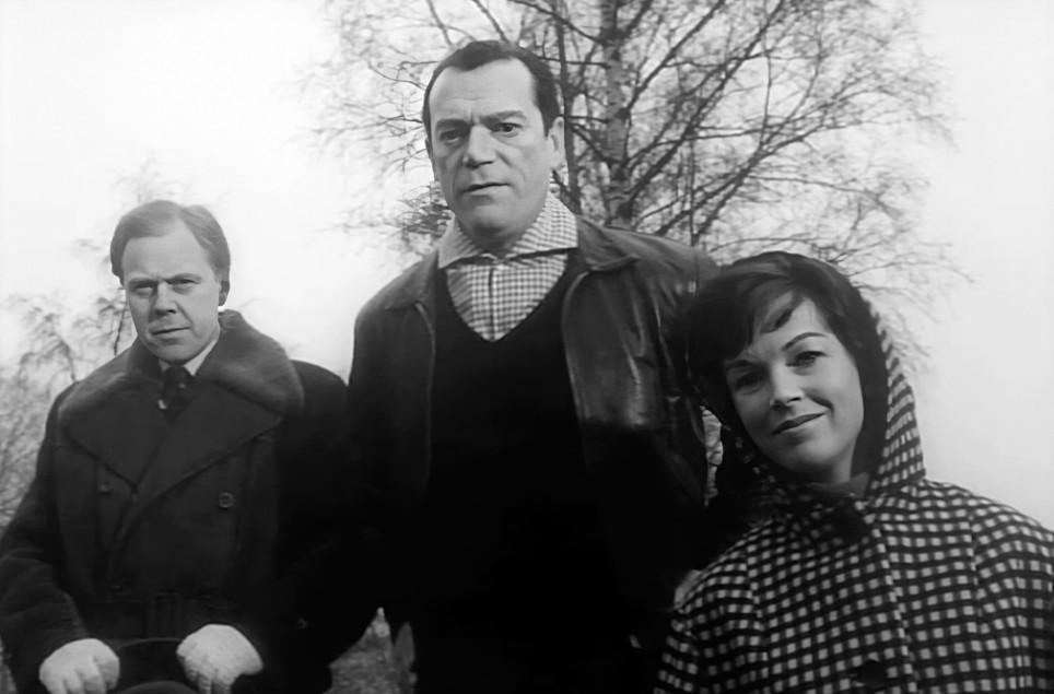Marius Goring, Eddie Constantine and Dawn Addams