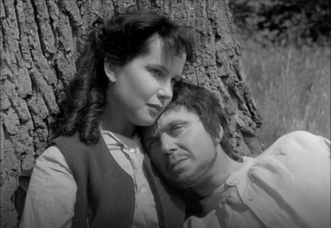 Susan Lyall Grant as Ginette & Marius Goring as Sir Percy Blakeney/The Scarlet Pimpernel in disguise as Pierre Duclos in Episode 3: The Princess in The Adventures of the Scarlet Pimpernel 1955