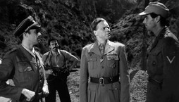 Dirk Bogarde as Major Patrick Leigh Fermor, Marius Goring as Major General Kreipe and David Oxley as and Captain Bill Stanley Moss