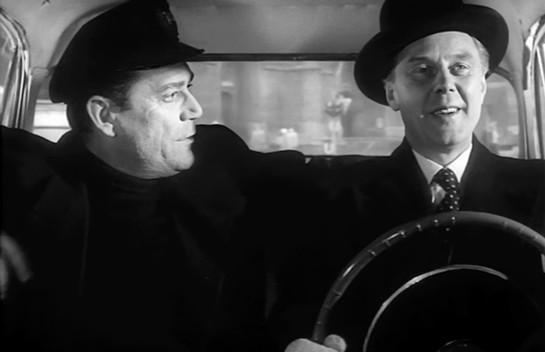 Eddie Constantine and Marius Goring