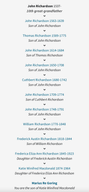 Richardson Ancestry
