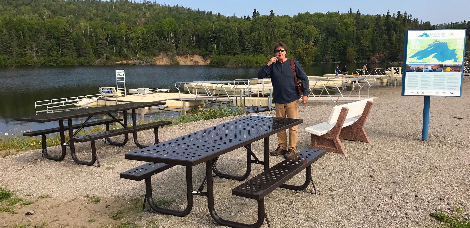 Lake Superior Water Trail Terrace Bay Beach Access Point