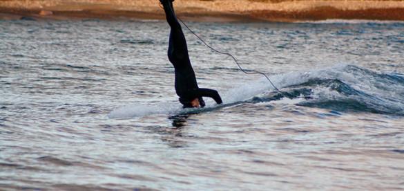 Headstand Surfing