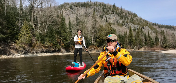 Stand Up Paddling the Goulais