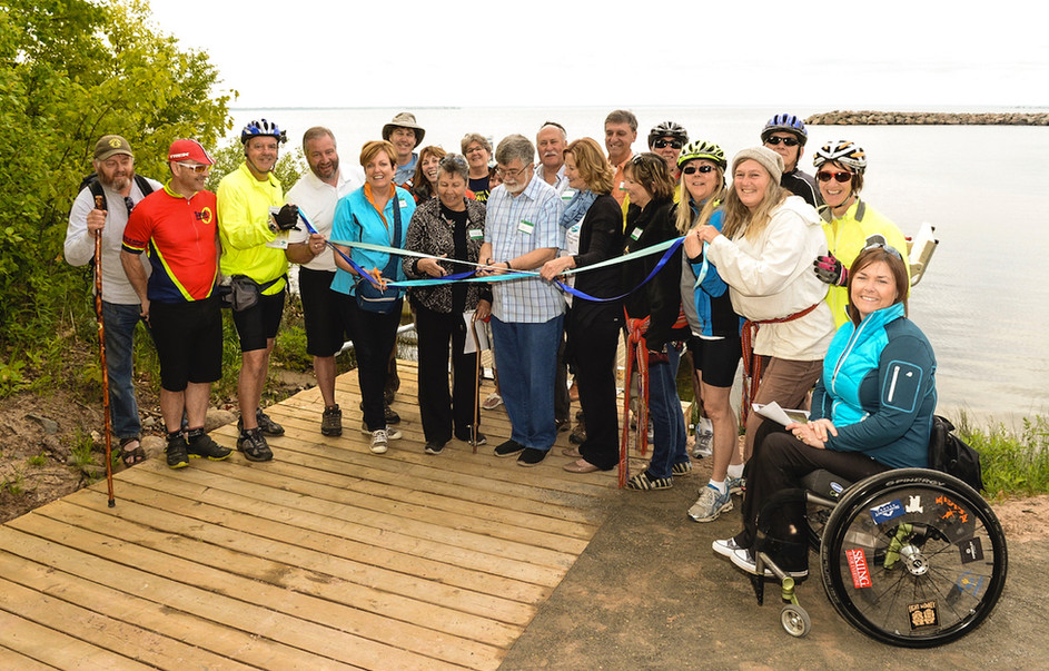Water Trail Ribbon Cutting Gros Cap Marina Park