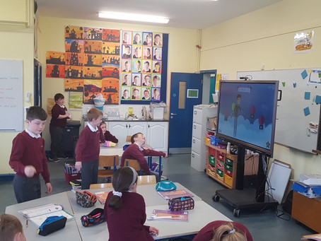 Having Fun With our New Interactive Boards.