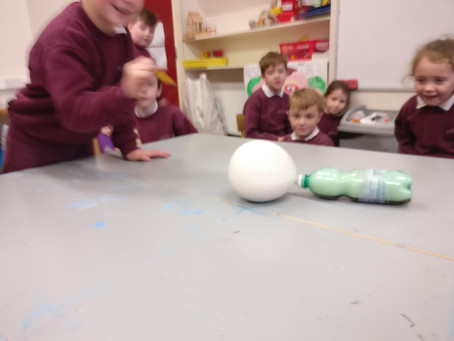 Science week upstairs... What fun we had on Friday. From exploding gas balloons to hover craft C.Ds